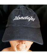 Vintage Honda Jet Aircraft Company Strapback Baseball Hat Cap Black Pilo... - $16.70
