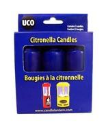 9-Hour Candles, Citronella, Blue, 3pk - $5.43