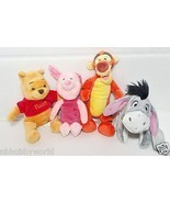 Winnie The Pooh Piglet Eeyor Tigger MINI BEAN BAG PLUSH Disney Store Exc... - £35.57 GBP