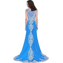 Lemai Women's Mermaid Lace Sheer Back Formal Long Prom Gowns Evening Dresses ... - $159.99