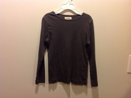 Olive Juice Earthy Gray Brownish Childrens Long Sleeve Top Sz L