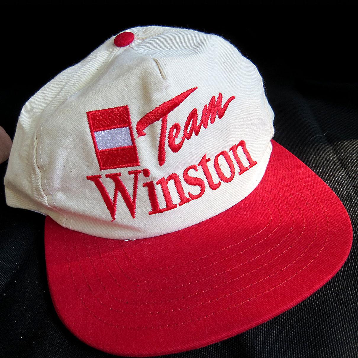 1d172caae99 57. 57. Previous. Vintage Team Winston Cigarettes Drag Racing Snapback  Baseball Hat Cap ...