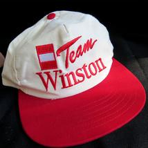 Vintage Team Winston Cigarettes Drag Racing Snapback Baseball Hat Cap OSFA Smoke - $22.08
