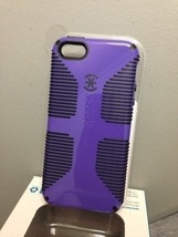 Speck Logo CandyShell Grip Case for iPhone 5 5S Purple/Black Retail Pack... - $17.87