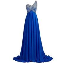 Lemai Sheer One Shoulder Crystals Backless Long A Line Formal Prom Evening Dr... - $139.99