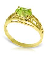 Brand New 1.15 Carat 14K Solid Gold Filigree Ring Natural Peridot - $187.67