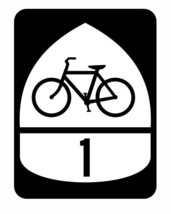 Bicycle Route 1 Sticker Decal R878 Highway Sign - $1.94 CAD+