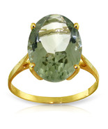 Brand New 7.55 CTW 14K Solid Gold Ring Natural Green Amethyst - $261.16