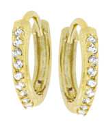 Classic Petite Hoop Earrings Goldtone Finish - $19.79