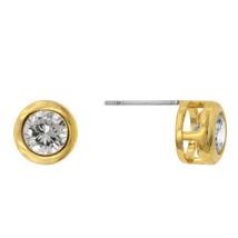 Gold Bezel Stud Earrings - $10.79