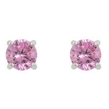 Pink Cubic Zirconia Stud Earrings - $15.29