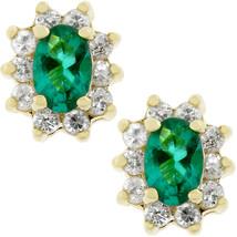 Emerald Flower Stud Earrings - $16.19