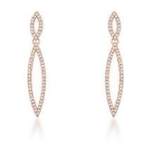 Sara 1.2ct CZ Rose Gold Delicate Double Teardrop Drop Earrings - $31.49