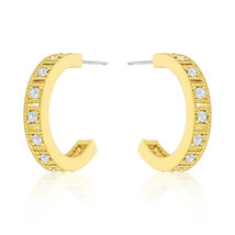 Roma Goldtone Finish Hoop Earrings - $18.89