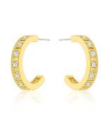 Roma Goldtone Finish Hoop Earrings - $18.89