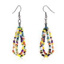 Candy Beaded Drop Earrings - $8.99