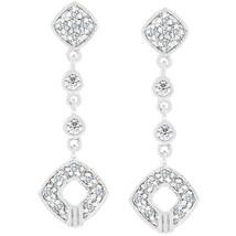Elegant Clear Cubic Zirconia Drop Earrings - $20.69