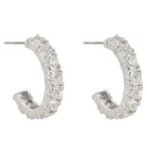 Trillion Cut Cubic Zirconia Hoop Earrings - $26.99