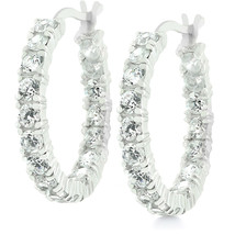 Sterling Silver Eternity Hoop Earrings - $41.39