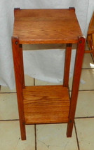 Solid Oak Mission Plant Stand  (PS196) - $249.00