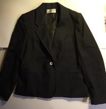 Women's Black Wool EVAN PICONE PETITE 1 Button ... - $8.99