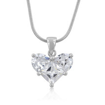 Classic Clear Heart Pendant - $17.09