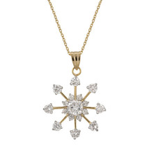 Golden Snowflake Drop Pendant - $25.19