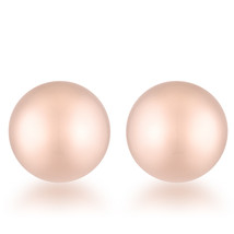 Julia Rose Gold Sphere Stud Earrings - $8.09