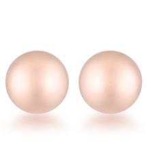 Julia Rose Gold Sphere Stud Earrings - $8.09