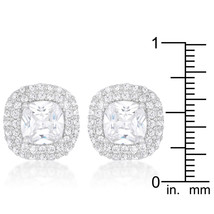 Cushion Pave Stud Earrings - $25.19