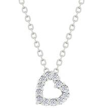Cubic Zirconia Heart Silhouette Pendant - $16.19