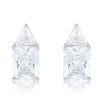 Classic Cubic Zirconia Sterling Silver Stud Earrings - $32.39