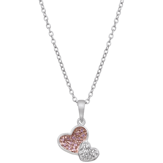 Primary image for Two Hearts Pave Pendant
