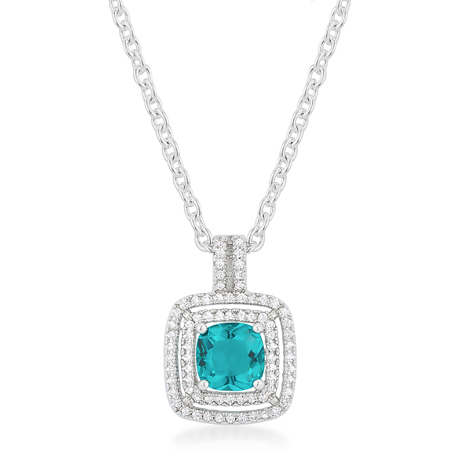 Primary image for Aqua Halo Stud Pendant