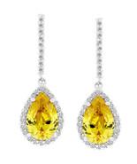 Canary Cubic Zirconia Drop Earrings - $34.19