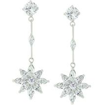 Star Cubic Zirconia Drop Earrings - $28.79