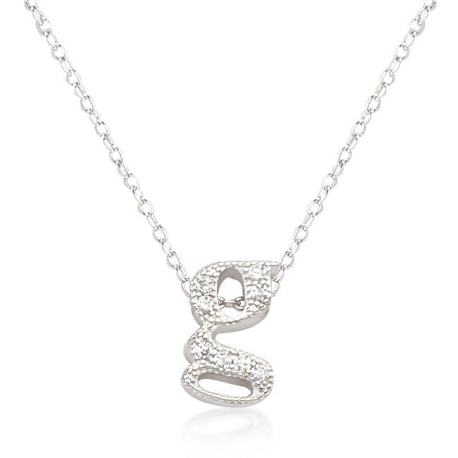 Primary image for Micro-Pave Initial G Pendant