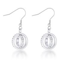 Tera 1.25ct CZ White Gold Double Ring Drop Earrings - $17.99