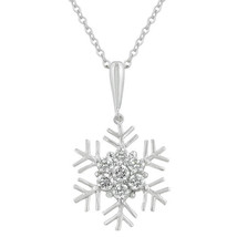 Snowflake Cubic Zirconia Pendant - $17.09