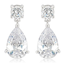 Elegant Cubic Zirconia Drop Earrings - $17.09