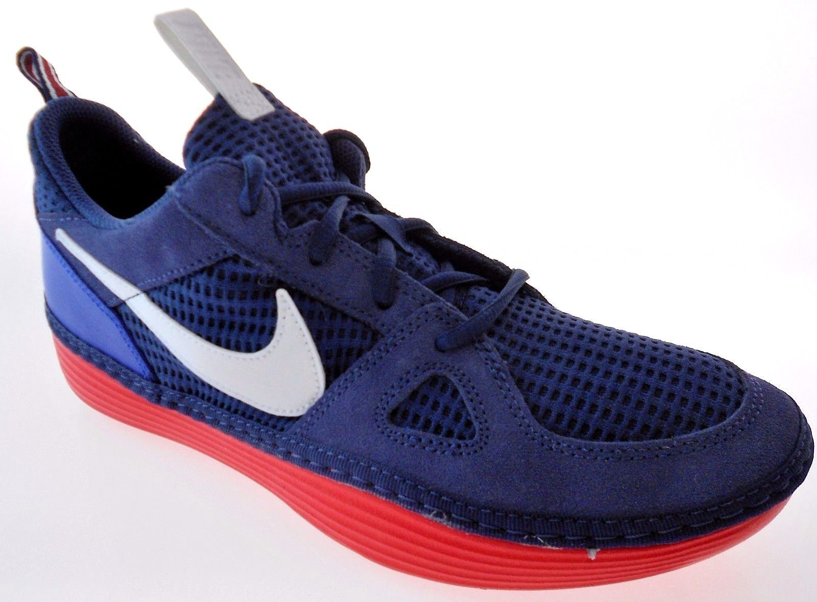 Primary image for NIKE SOLARSOFT RUN MEN'S NAVY/ROYAL BLUE SHOES, #631409-414