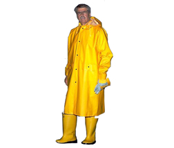 Yellow or Lime Green Rain Coat, 48 Inch With Detachable Hood - $7.65+
