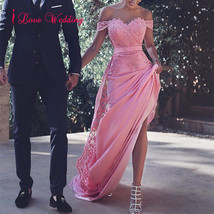 Sexy Pink Satin Pageant Prom Evening Dresses Mermaid Formal Party Bridal... - $108.10