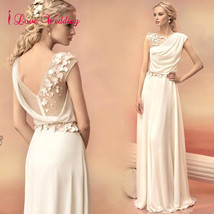 New Ivory Chiffon Pageant Prom Evening Dresses Mermaid Formal Party Brid... - $89.40