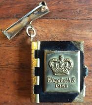 VINTAGE 1953 ELIZABETH II CORONATION BROACH.  UK Dispatch.  - £24.98 GBP