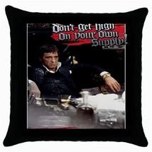 Al Pacino Scarface Black Cushion Cover Throw Pillow Case-RARE - $15.00