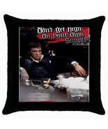 Al Pacino Scarface Black Cushion Cover Throw Pillow Case-RARE - $15.00