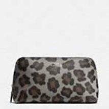 Coach Cosmetic Case Ocelot Print Halfcalf F64242 Silver/grey Multi - $128.69