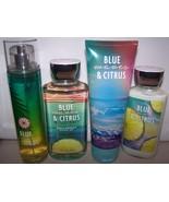 4 Pc Bath & Body Works Blue Waves & Citrus - Lotion, Shower Gel, Cream &... - $23.95