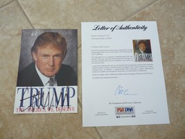 Donald Trump America We Deserve Signed Autograph Book Cover Photo PSA Ce... - $499.99